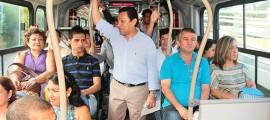 El Alcalde de Bucaramanga madrugó a verificar la puesta en marcha de la segunda fase de Metrolínea.