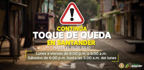 Se mantienen restricciones en Santander hasta el próximo 15 de julio