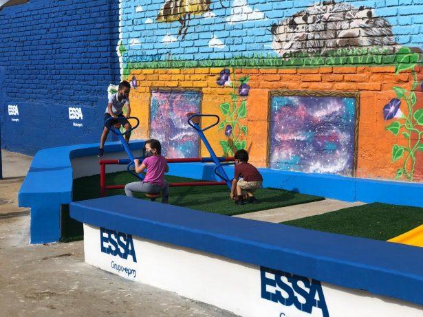 ESSA realiza adecuaciones al parque infantil y salón comunal del barrio La Independencia de Bucaramanga